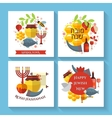 Happy Jewish new year Shana Tova greeting cards vector image