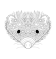 Hedgehog head coloring for adults vector image vector image