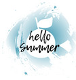 hello summer concept image with fruits vector image vector image