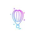 hot air balloon icon design vector image