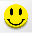 icon smile stylish background with shadow vector image