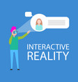 interactive reality interface demonstration banner vector image
