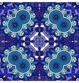 Intricate blue geometric circular pattern vector image vector image