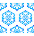 kaleidoscopic white blue flower background vector image vector image