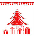 merry christmas christmas tree and gifts new vector image vector image