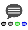 message cloud flat icon vector image vector image