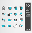 mimimaly styled silhouettes for web vector image vector image