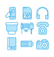 mobile sim headphone blue tooth charger telephone vector image