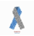 modern diabetes circles design vector image