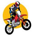 motocross racer mascot vector image
