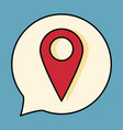 navigation geolocation icon in flat design on vector image
