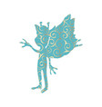 pixie pattern silhouette mythical animal fantasy vector image vector image