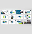 presentation flyer set vector image vector image