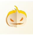 Pumpkin cut out of paper vector image vector image