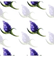 PurpleFloralPattern vector image vector image