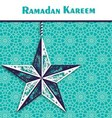 Ramadan background with ornamental star vector image