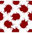 realistic blood splatters pattern vector image vector image