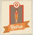 Retro Woman design vector image vector image