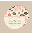 round invitation with roses vector image vector image