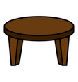 round little table icon vector image