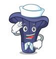sailor actarius indigo mushroom character cartoon vector image vector image