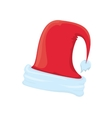 Santa hat icon isolated on white santa hat vector image