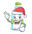 santa liquid soap in cartoon shape vector image vector image