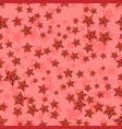 seamless pattern with flat decorative stars vector image vector image