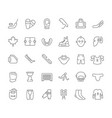 set line icons hockey vector image