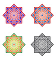 Set MandalasSquare Ornaments vector image