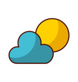 shadow sun and cloud vector image vector image