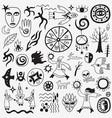 shaman character doodles vector image vector image