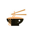 soup spaghetti chopsticks traditional japan icon vector image