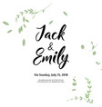 spring wedding background with beautiful leaves vector image vector image