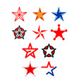 star icon set vector image