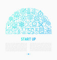 start up concept in half circle vector image
