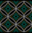 stitching geometric ornamental seamless pattern vector image
