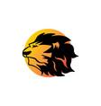sun lion head logo a simple design vector image vector image
