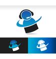 Swoosh Customer Service Logo Icon vector image vector image