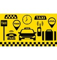 transport set of taxi objects vector image vector image