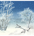 Winter atercolor Landscape vector image vector image