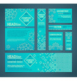 set of retro design templates vector image
