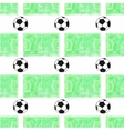 Watercolor seamless pattern with ball and football vector image