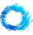 aqua circle splash element vector image