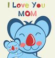 Love u mom koala vector image
