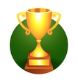 Trophy gold cup vector image
