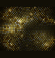 abstract black background with retro gold glitter vector image