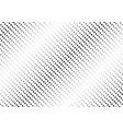 abstract black diagonal halftone pattern on white vector image