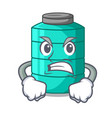 angry cartoon water tank on the tower vector image