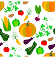 autumn vegetables pattern vector image vector image